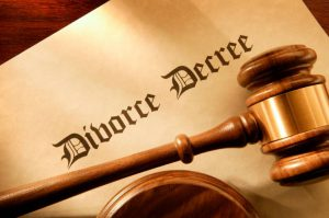A Gavel On a form Title Divorce Decree