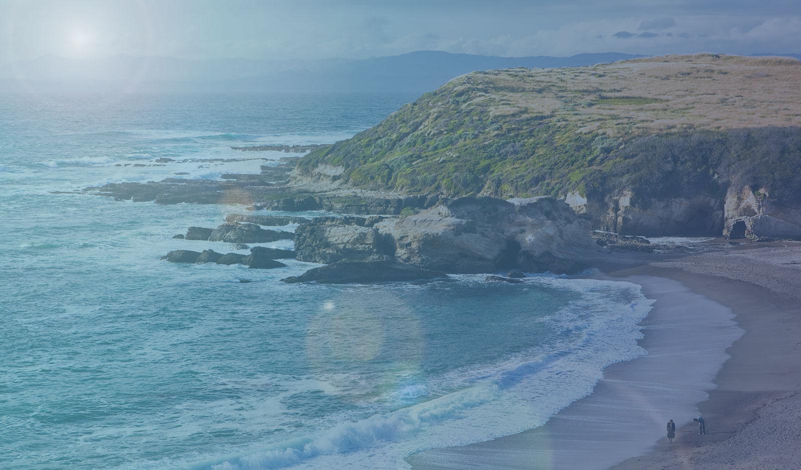 Background of Sunny Hillside Beach